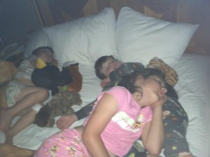 sleeping kids